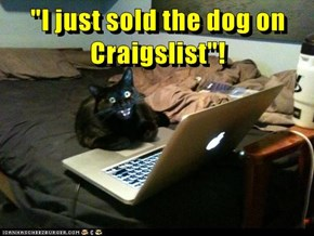 """I just sold the dog on Craigslist""!"