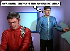 """WOW.  HOW DID I GET STUCK ON """"MEN'S ROOM MONITOR"""" DETAIL?"""