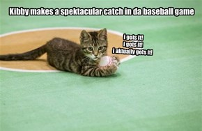 Kibby makes a catch