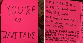 12-Year-Old Sends Bullies an Invitation to Stop Picking On Her Little Sister