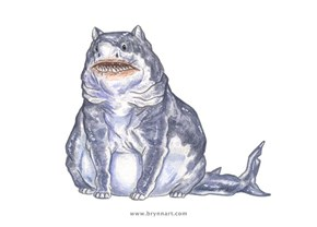These Shark-Cat Illustrations Are Both Fascinating and Terrifying