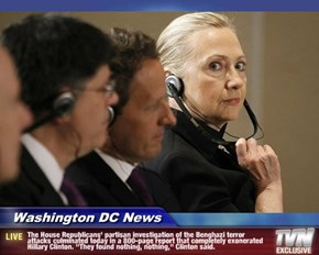 """""""They found nothing, nothing,"""" Clinton said."""