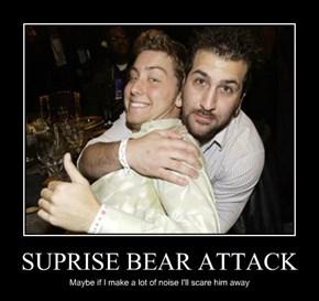 SUPRISE BEAR ATTACK