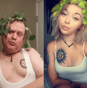 Troll Dad Makes a Dad Version of All of His Daughters Selfies