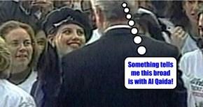 Something tells me this broad is with Al Qaida!