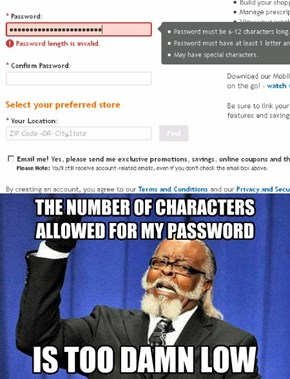 Right Store, Right Price, But Wrong Password Policy