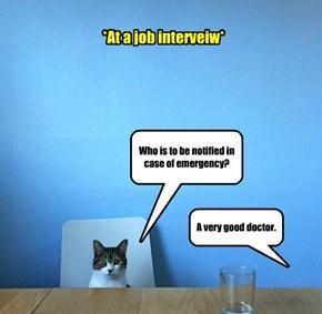 *At a job interveiw*