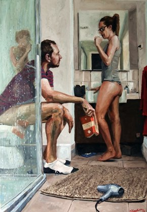 "This Painting of A ""Modern Relationship"" Has Been Shared Almost One Million Times on Imgur"