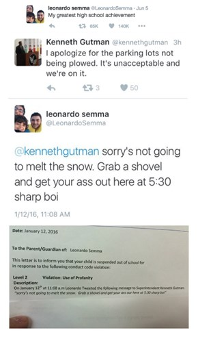 Teen Suspended for Trolling His Superintendent on Twitter Goes Viral