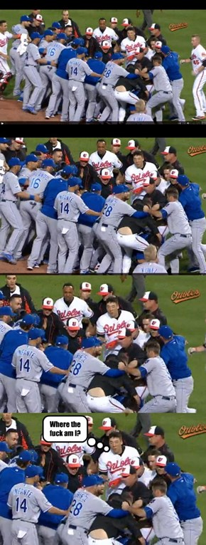 Noticed this in the Os-Royals brawl...