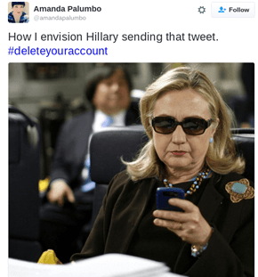 "Twitter Had a Meltdown After Hillary Sent That ""Delete Your Account"" Tweet, Here Are Some of the Best Reactions"
