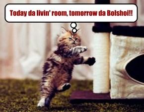 Today da livin' room, tomorrow da Bolshoi!!