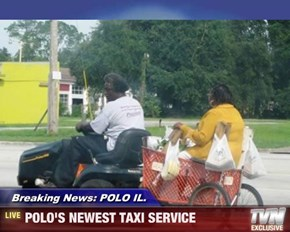 Breaking News: POLO IL. - POLO'S NEWEST TAXI SERVICE
