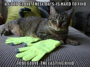 A GOOD GLOVE, THESE DAYS, IS HARD TO FIND ,  TRUE GLOVE, THE LASTING KIND