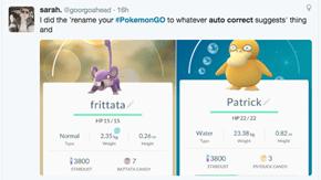 Pokémon GO Players Are Letting Autocorrect Name Their Pokemon