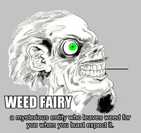 if you are good and share your weed, the weed fairy comes when you are in need if you are bad and don't share a bit, the weed fairy will come and take your shit.