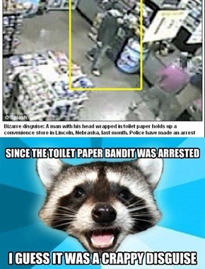 Toilet Paper Caper Goes Down The Drain