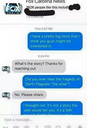Not From a Jedi