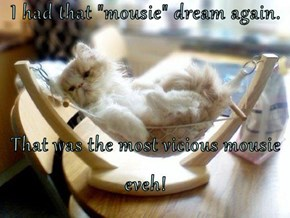 "I had that ""mousie"" dream again.  That was the most vicious mousie eveh!"