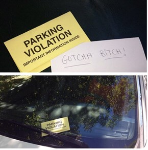 I'll Take That Over a Parking Ticket Any Day