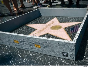 Donald Trump Got His Very Own Border Wall Around His Star on the Hollywood Walk of Fame