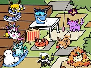 Pokémon Go + Neko Atsume = Eevee Cats