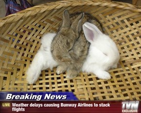 Breaking News - Weather delays causing Bunway Airlines to stack flights