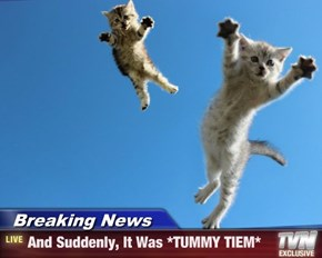 Breaking News - And Suddenly, It Was *TUMMY TIEM*