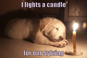 I lights a candle  for our Sylviag