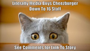 Literally Media Buys Cheezburger                                Down To 16 Staff  See Comments for Link To Story