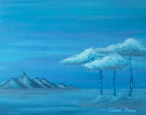 "My painting I called ""My Blue Vista"". 11x14"" canvas board"