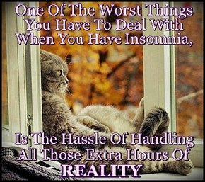 Chronic Insomnia causes an overload of Reality.