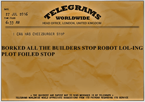 BORKED ALL THE BUILDERS STOP ROBOT LOL-ING PLOT FOILED STOP
