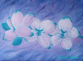 "My 8x10"" painting called My Spotted Orchid"