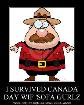 I SURVIVED CANADA DAY WIF 'SOFA GURLZ
