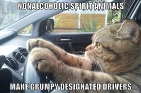 NONALCOHOLIC SPIRIT ANIMALS  MAKE GRUMPY DESIGNATED DRIVERS