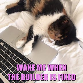 WAKE ME WHEN                     THE BUILDER IS FIXED
