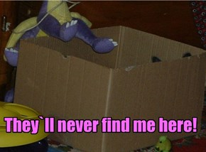 They`ll never find me here!