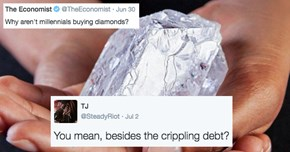 "Think Piece Asks ""Why Aren't Millennials Buying Diamonds?"" So They Answered"