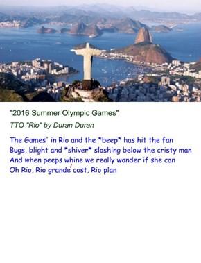 """2016 Summer Olympic Games"" (TTO ""Rio"" by Duran Duran) The Guardian http://tinyurl.com/jucd7s6 Sporting News http://tinyurl.com/jg8p9as CNN http://tinyurl.com/zld9kpp"