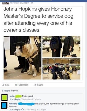 Dogs with Degrees