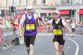 Couple Celebrates Their 80th Birthdays by Finishing Marathon Hand in Hand