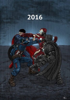 Marvel and DC's movies in 2016 in a nutshell