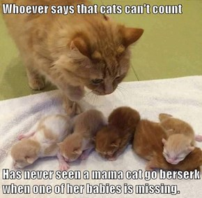 Who says that cats can't count?