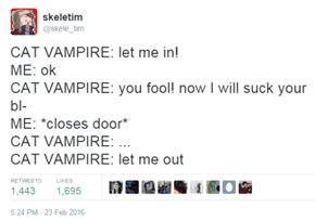 Every Cat Vampire Shares the Same Weakness