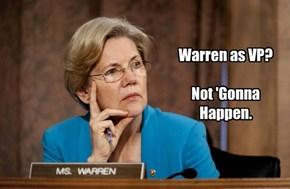 Warren as VP?   Not 'Gonna Happen.