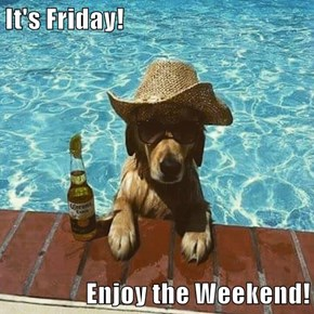 It's Friday!  Enjoy the Weekend!