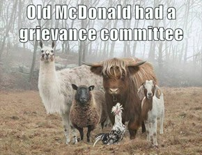 Old McDonald had a grievance committee