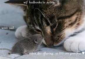 wif  hedbonks to  sylbia  weez  sad.. eeben dee offuring.. so DIS one goes free ♥