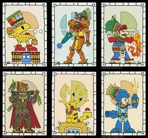Talented Tuscon-Based Artist Sita Navas Gives 'Smash 4' Characters Mayan Styled Makeover
